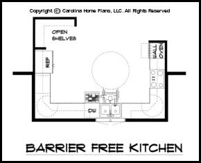 Ada Aging In Place House Plans Structural Features For A New Home Barrier Free Kitchen
