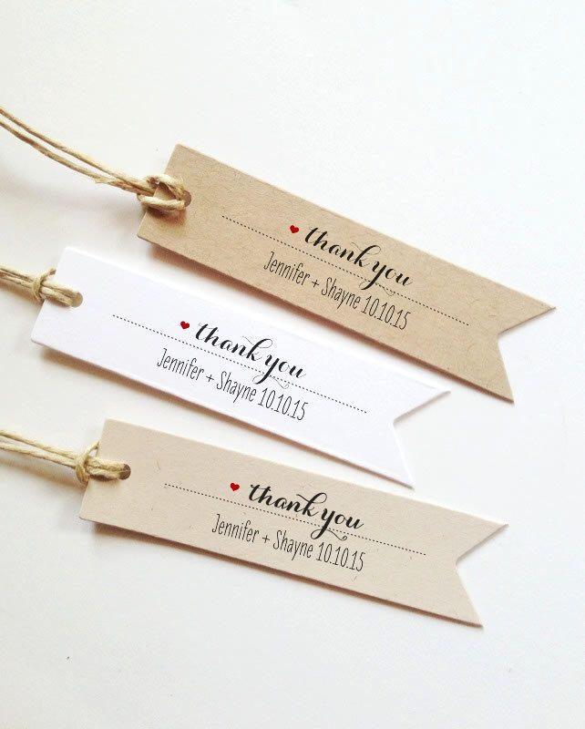 25 wedding favor tags thank you tags custom tags bridal shower favor tag wedding gift tags