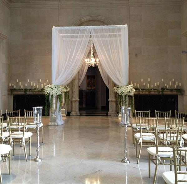 Wedding Ceremony Décor In The Great Hall Dayton Art Insute