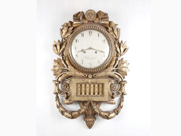 Big Cartelluhr Gustavian clock, Sweden 1780