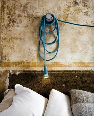 bulb on a rope = simple chic lamp