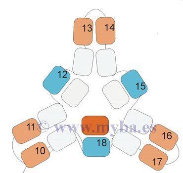 Triángulos planos con Delicas Miyuki: Técnica y tienda de abalorios.