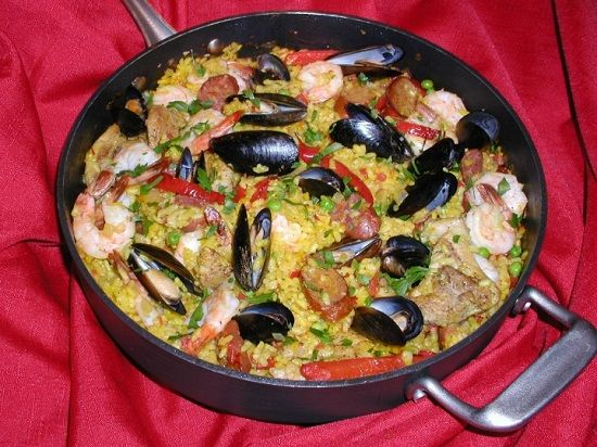 Spicy Spanish Seafood Paella Recipe