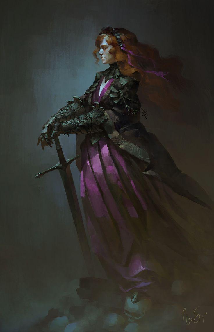 Knight of the Blood Moon, Naomi Savoie on ArtStation at https://www.artstation.com/artwork/GWVwB