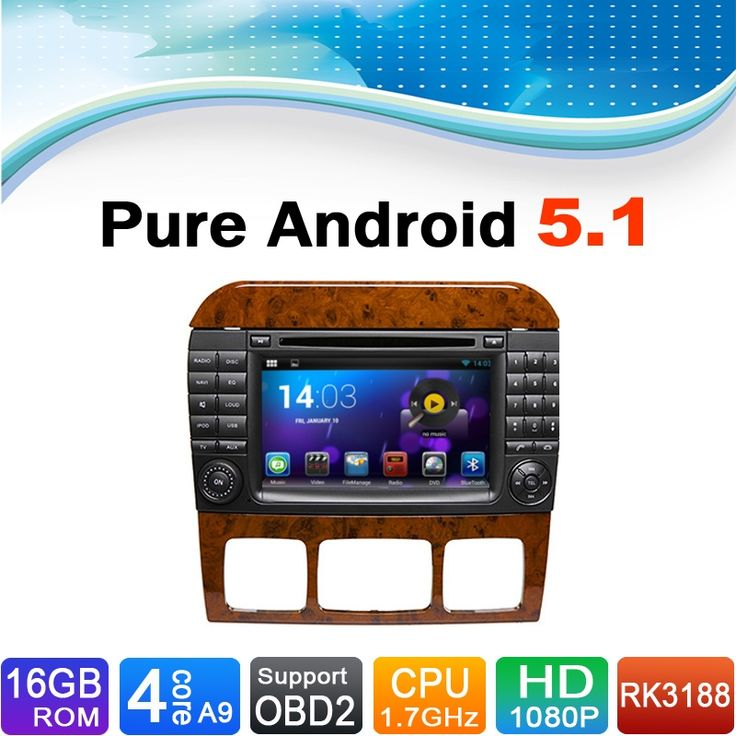 Android 5.1 Car DVD GPS Navigation for Mercedes-Benz S Class S500 S600 S280 S320 S350 S400 S420 S430 W220 W215 (1998-2005)