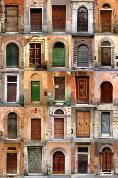 All shapes and sizes.: Town Doors, The Doors, Italian Town, Rome Italy, Beautiful Doorway, Beautiful Doors, Italian Doors, Old Doors, Dreams Doors
