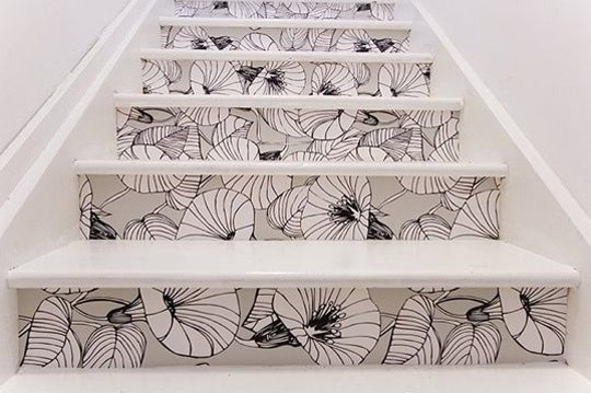 Wow!: Stairs Risers, Paintings Stairs, Wallpapers Stairs, Cute Ideas, Basements Stairs, Cool Ideas, Stairca, Stairs Design, Stairways