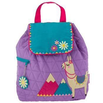 9c0b166d08a1 Stephen Joseph Quilted Backpack Llama