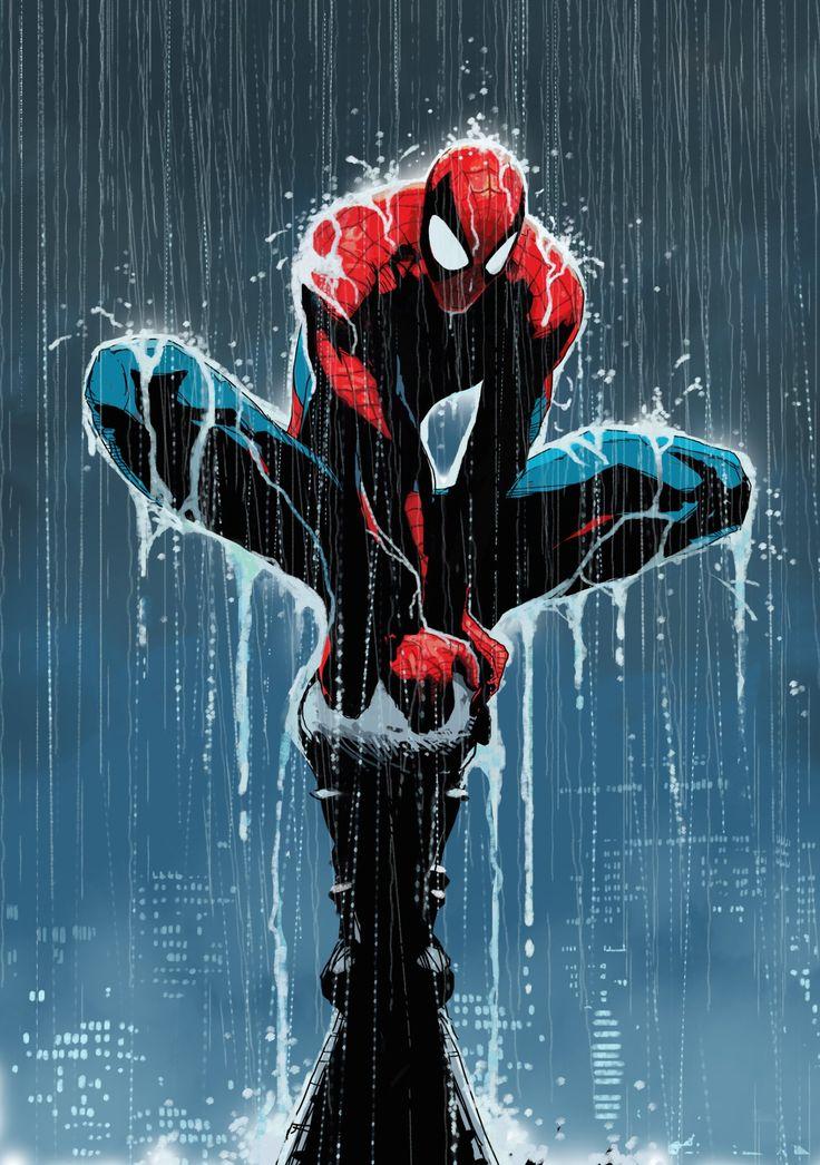 #Spiderman #Fan #Art. (Wet Spider Man) By: Dave Seguin. (THE * 5 * STÅR * ÅWARD * OF: * AW YEAH, IT'S MAJOR ÅWESOMENESS!!!™)[THANK U 4 PINNING!!!<·><]<©>ÅÅÅ+(OB4E) More