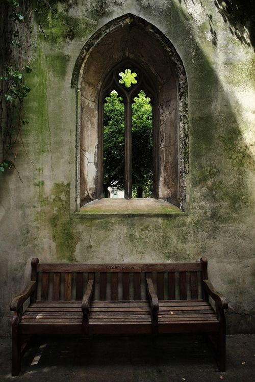 Gothic Window And Garden Bench Windows And French Doors