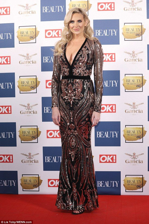 Brave face: Stephanie Pratt stepped out for the OK! Beauty Awards on Tuesday night, amid her split from Love Island's Jonny Mitchell