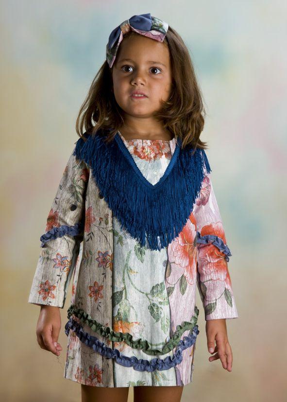 bbc06b2688 vestido flecos nueva colección otoño invierno 2017 2018 Pocholitas moda  infantil para niñas de 2