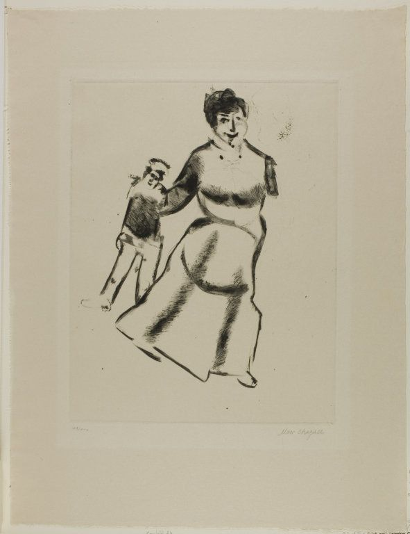 Mother and Son, plate two from Mein Leben | The Art Institute of Chicago