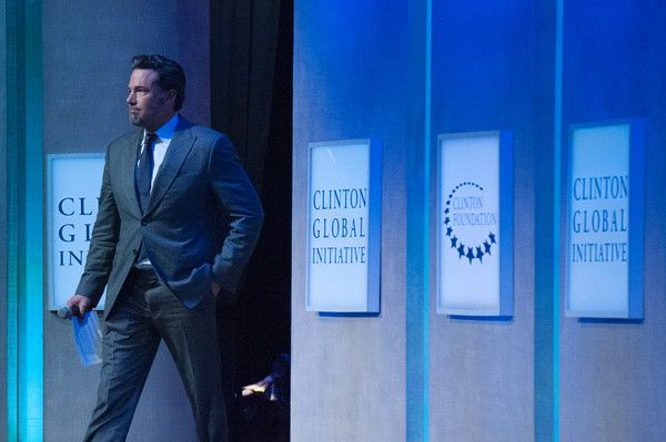 Ben Affleck Photos Photos - Actor Ben Affleck enters the stage during the annual Clinton Global Initiative on September 21, 2016 in New York City. Former President Bill Clinton defended the foundation, founded in 2005, at the final CGI meeting. - Business And Political Leaders Attend Clinton Global Initiative Annual Meeting