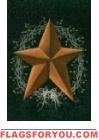 Rusty Star Berries Garden Flag