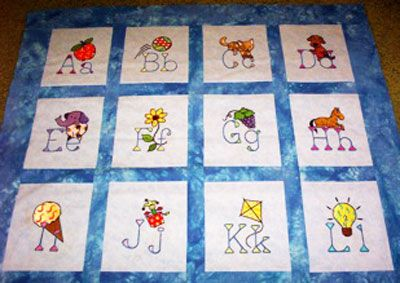 Baby's First Alphabet Quilt image1