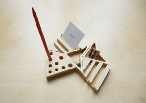 Desk Organizer - business cards and pens along with ample storage space for post-it notes