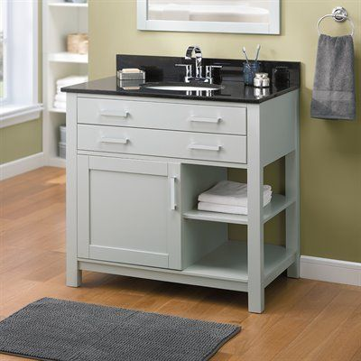 Lowe 39 S Bathroom Vanity Allen Roth Chanceport Specialty Grey Transitional Bathroom Vanity