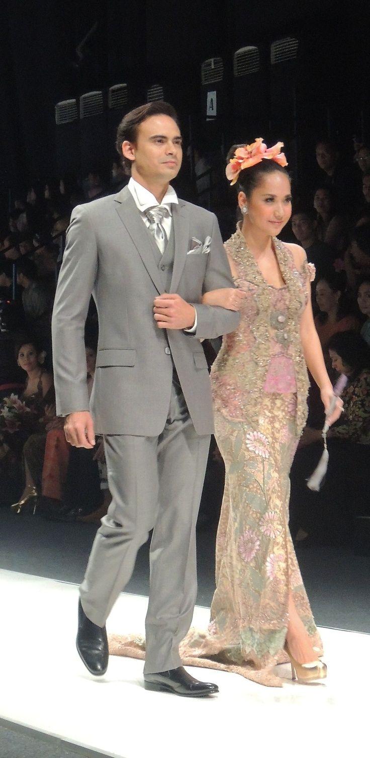 grey-pink dress