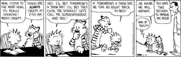 Calvin and Hobbes Comic Strip, March 15, 2014 on GoComics.com