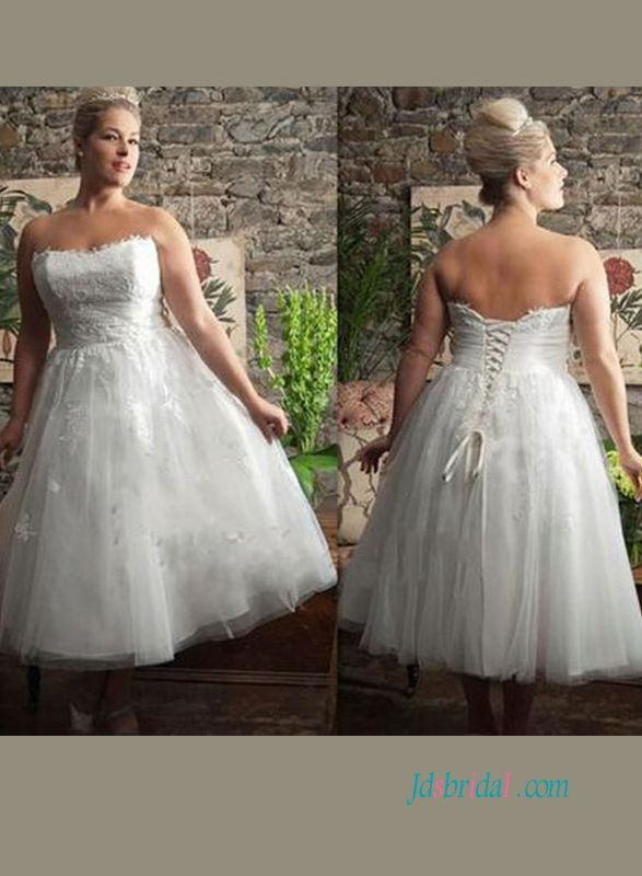 H0914 Cheap Plus Size Short Lace Vintage Wedding Dress In 2020 Short Wedding Dress Short Bridal Gown Short Bridal Dress