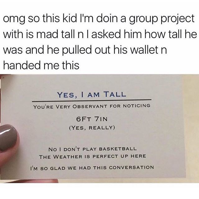 This is absolutely brilliant and I wish I wasn't 5'3 just so I can hand these out. (twitter: MamaHeffa)