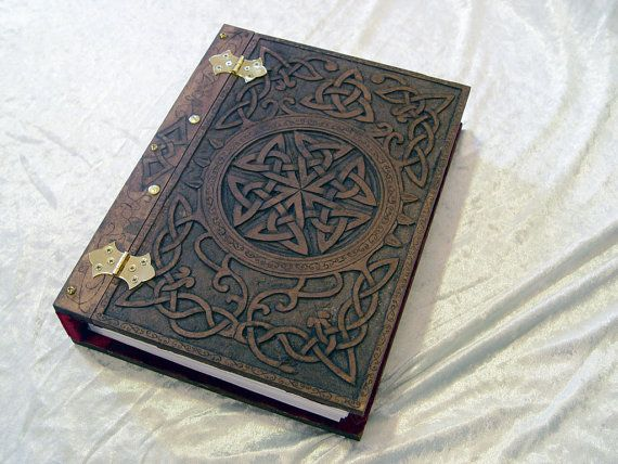 Celtic Knot Blank Book A4 Wooden / Wood Journal / Visual Diary / Notebook / Spell Book