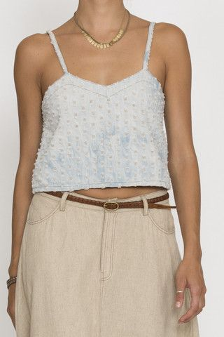 eden top - washed chambray | Goddess of Babylon