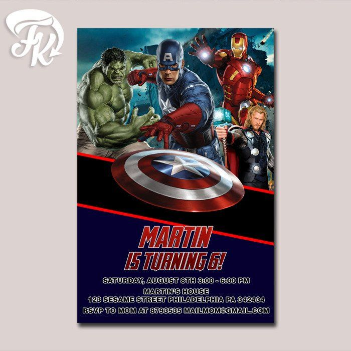 The Avenger Ultron Ultimate Birthday Party Card Digital