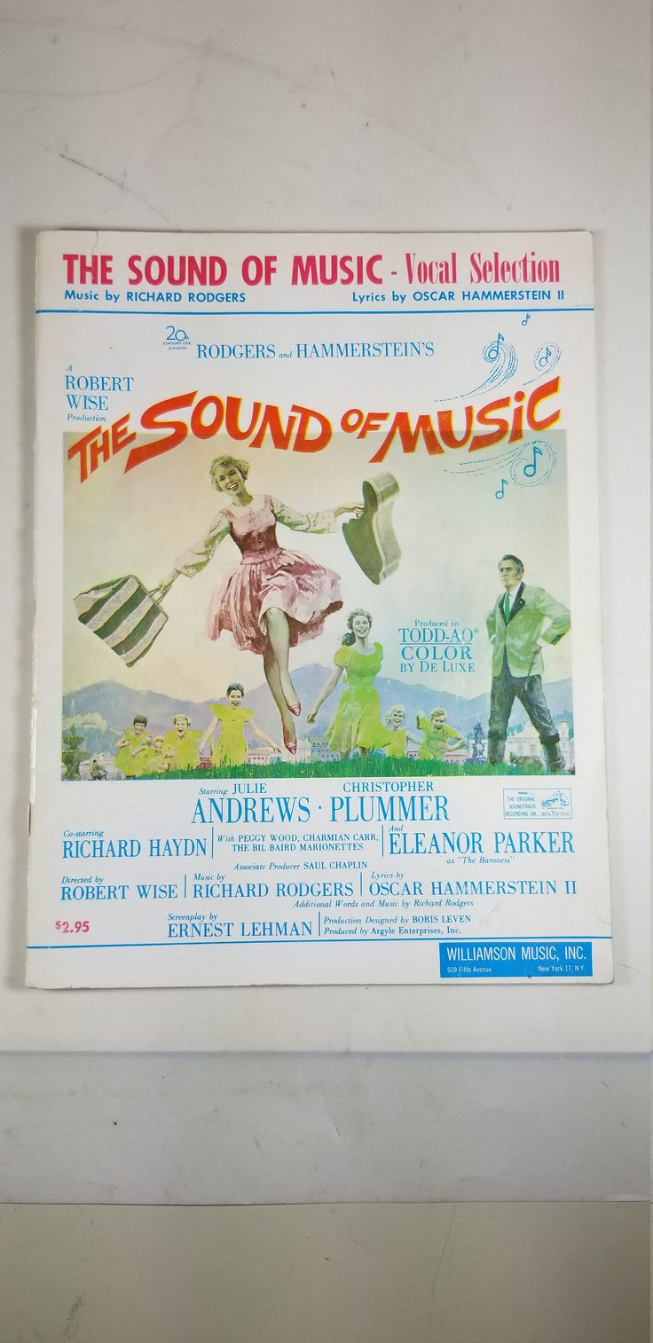 Vintage The Sound of Music Sheet Music Richard Rodgers and Oscar Hammerstein 31 pages by TheCedarChestMidland on Etsy