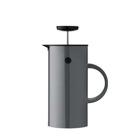 Stelton EM Press Coffee Maker Anthracite: The insulated EM Press Coffee Maker holds eight cups, and its double walls keep coffee warm for longer. Turn the lid to pour the coffee and turn it again to close. This spring's new beautiful and light colours are inspired by the first signs of spring, letting thoughts wander to light Scandinavian evenings by the sea, and sandy beaches with gentle summer breezes.