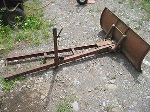 Wheel Horse Garden Tractor 42 Push Blade Snow Dirt Plow Dozer