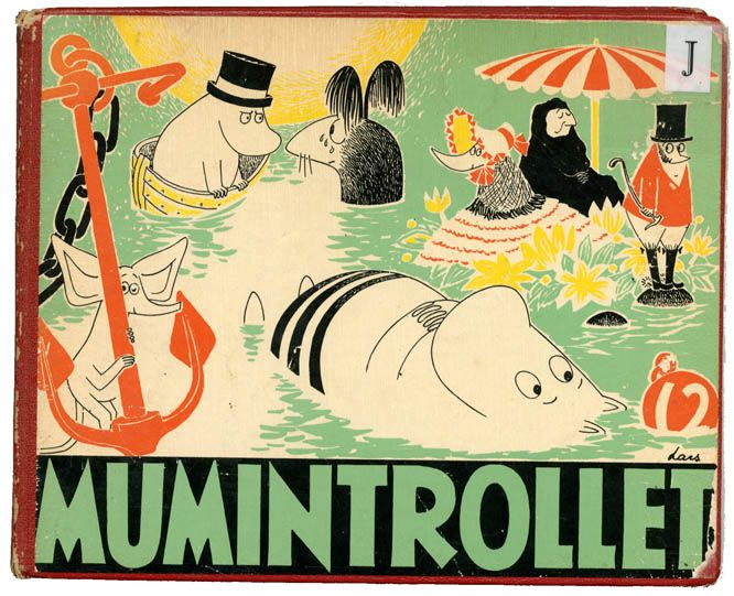 Tove Jansson, picture book series Mumintrollet, Moomin trolls, 4/1958-21/1974…