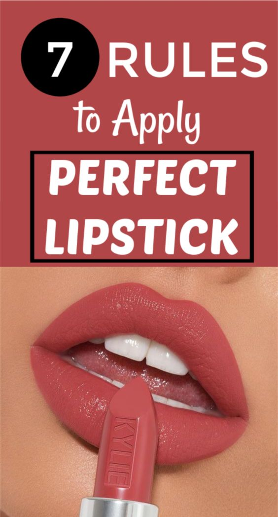 7 Rules To Apply Lipstick Perfectly
