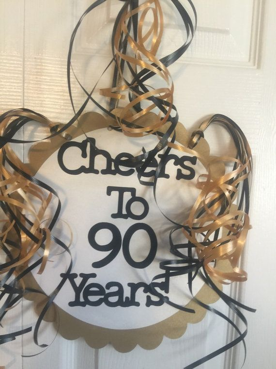 90th Birthday Party Decorations Giant Personalized by FromBeths