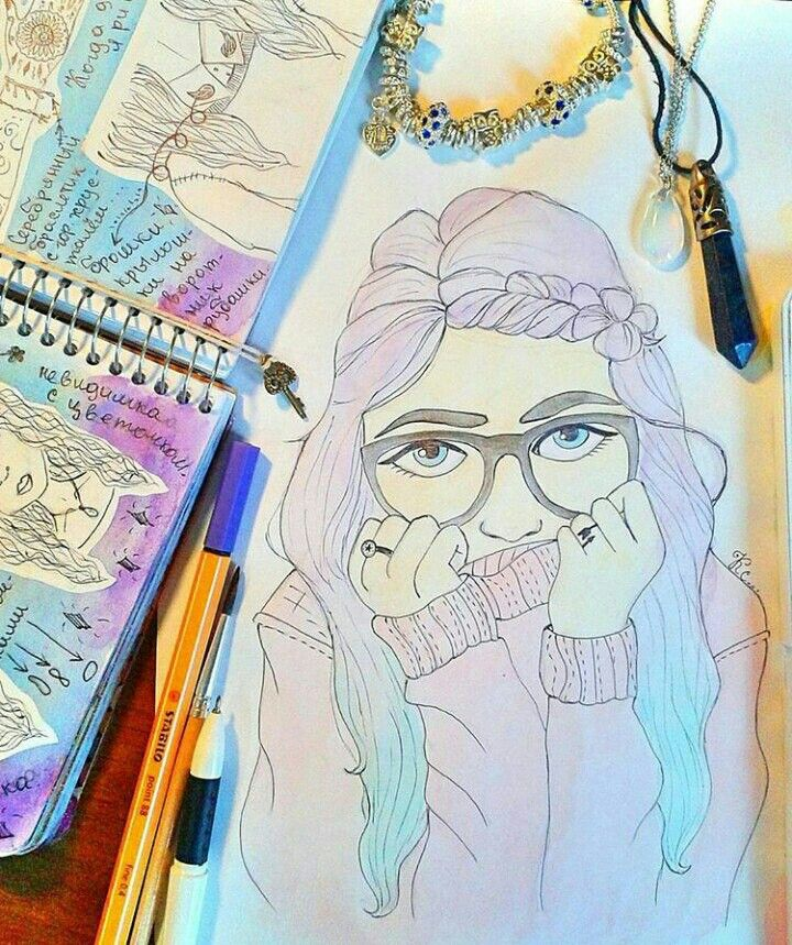 #рисунок #девушка