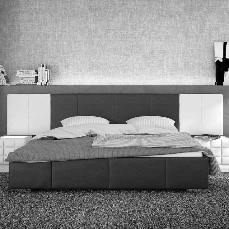 Moderne Polsterbetten polsterbett in schwarz weiß 140x200 140x200 jetzt bestellen unter