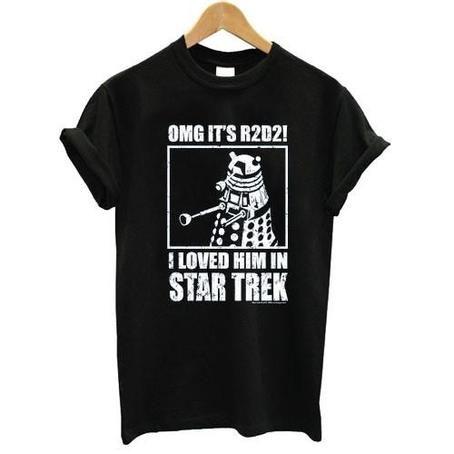 OMG R2D2 Star Trek Tshirt shirt Tees Adult Unisex custom clothing Size S-3XL