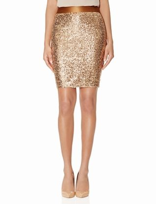 Sequin Pencil Skirt #HolidayPartyPieces #TheLimited #Sequins