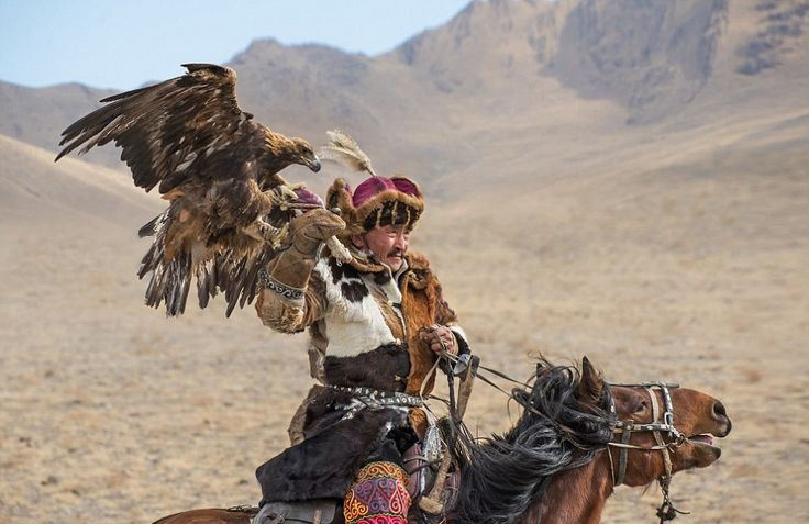 Photographer captures the Kazakh people practising their ancient tradition of hunting with golden eagles.