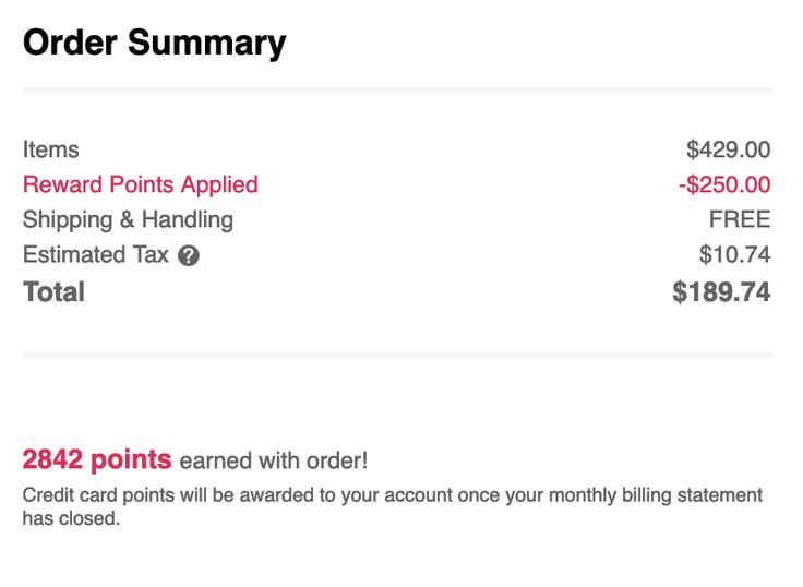 My todays ulta order credit card points ulta how to apply