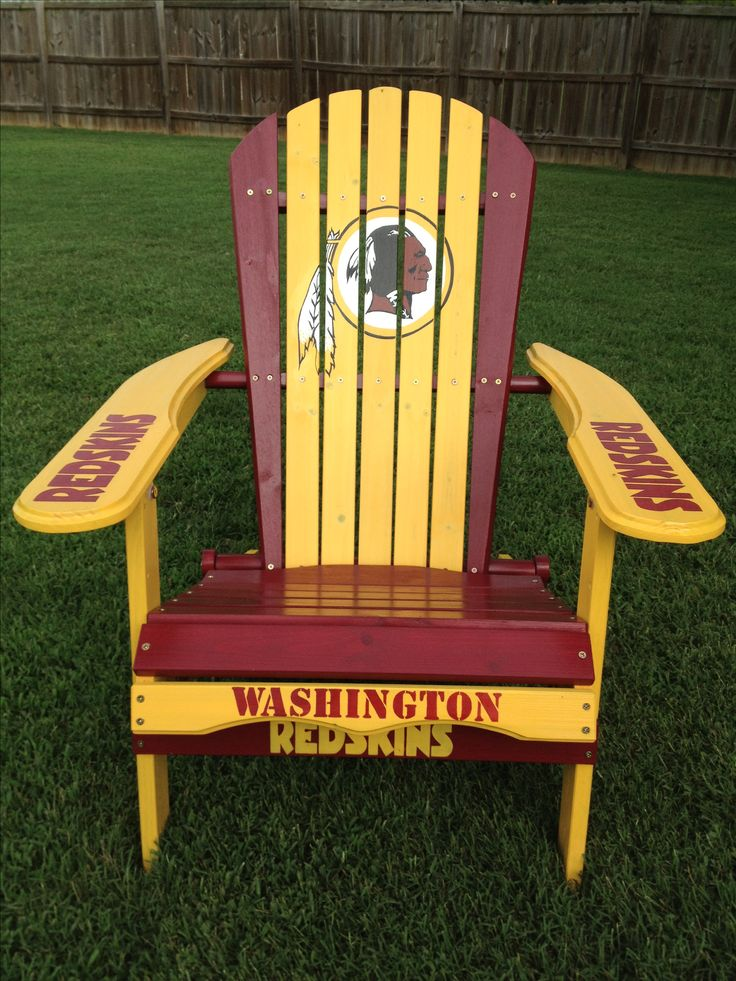 Washington Redskins hand painted folding adirondack chair https://www.fanprint.com/licenses/washington-redskins?ref=5750