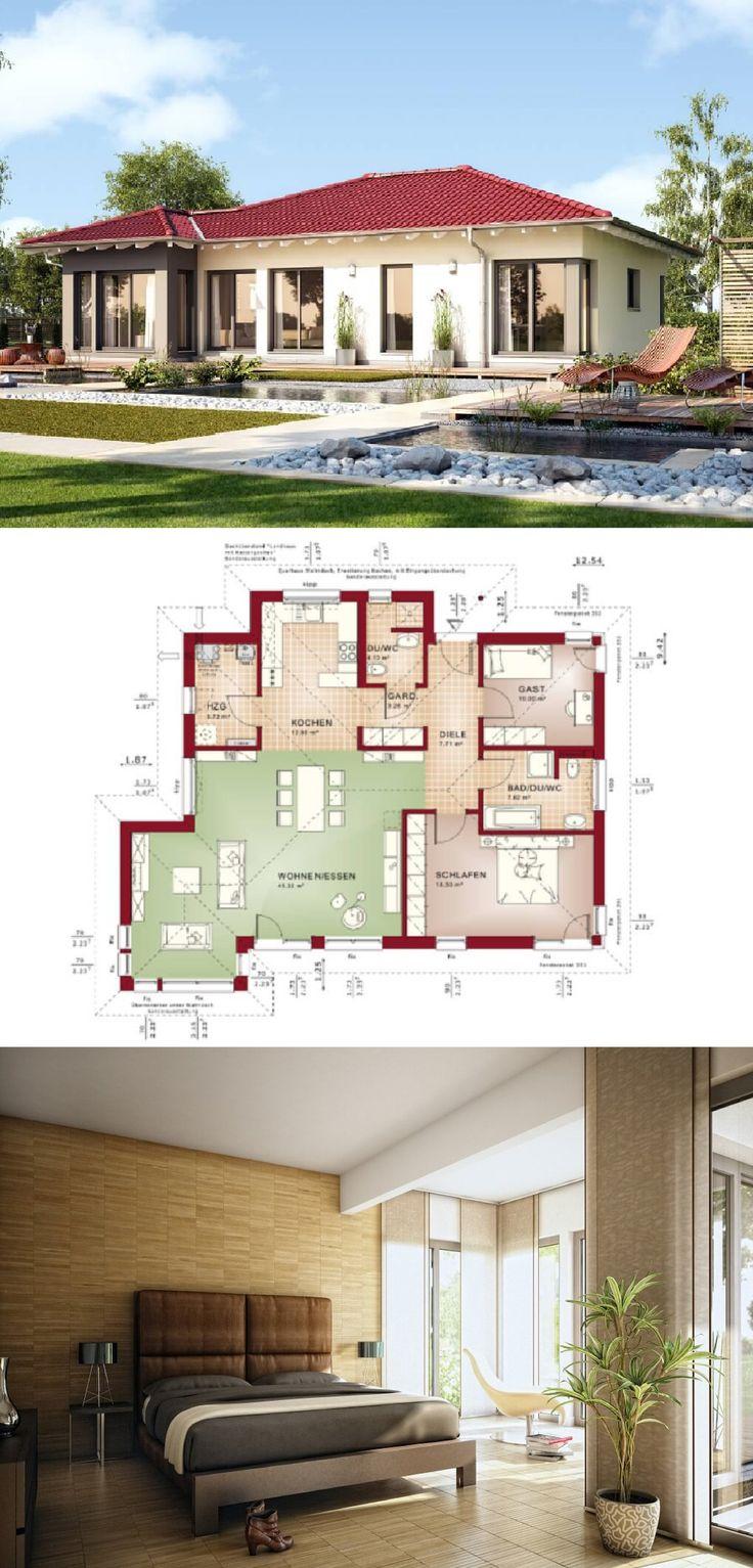 die besten 25 haus bungalow ideen auf pinterest h user bungalow und haus ideen. Black Bedroom Furniture Sets. Home Design Ideas