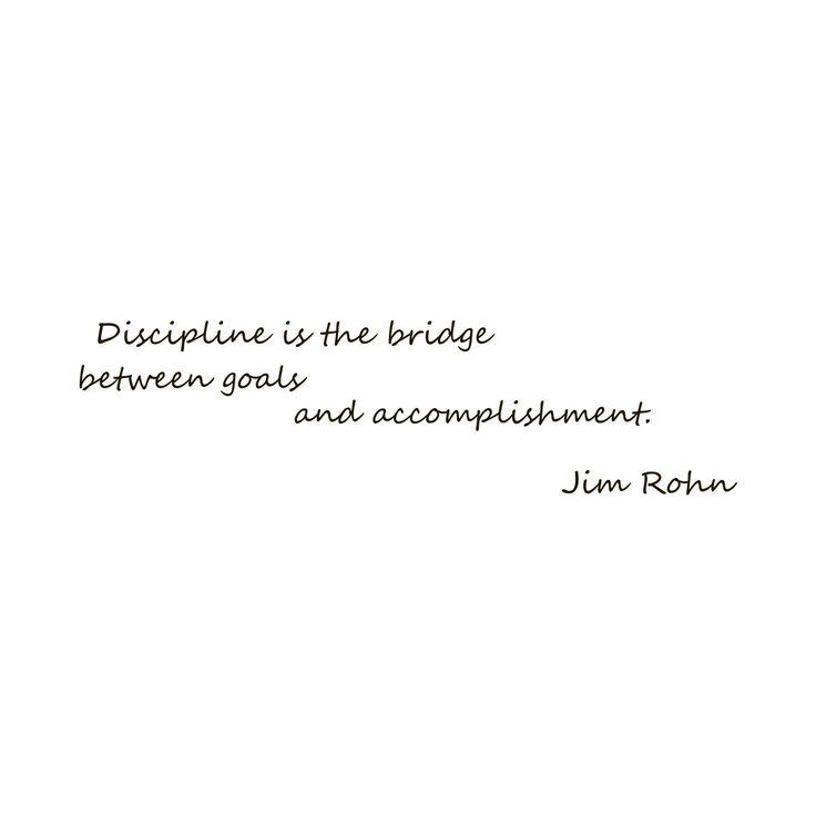 Motivational Quote 'Discipline is the Bridge...' Vinyl Wall Decal Sticker