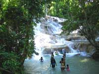 Dunn's Rivers Falls Hike in ochos rios, jamaica. We did this on our honeymoon back in 2009. So amazing