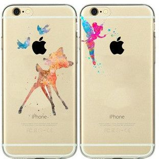 Fun Disney Bambi & Tinkerbell Phone Cases for iPhone 5 and 6! Made from a Flex Silicone Case. Please contact me with any questions! Thank