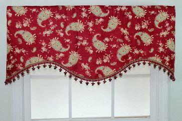 Prelude Paisley Crimson Cornice Valance - contemporary - Curtains - Overstock.com