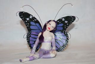 The Fairy Circle - My ooak : Purple Butterfly
