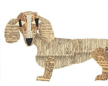 Paper dog art... kind of looks like Chelsea. Need to make my own.