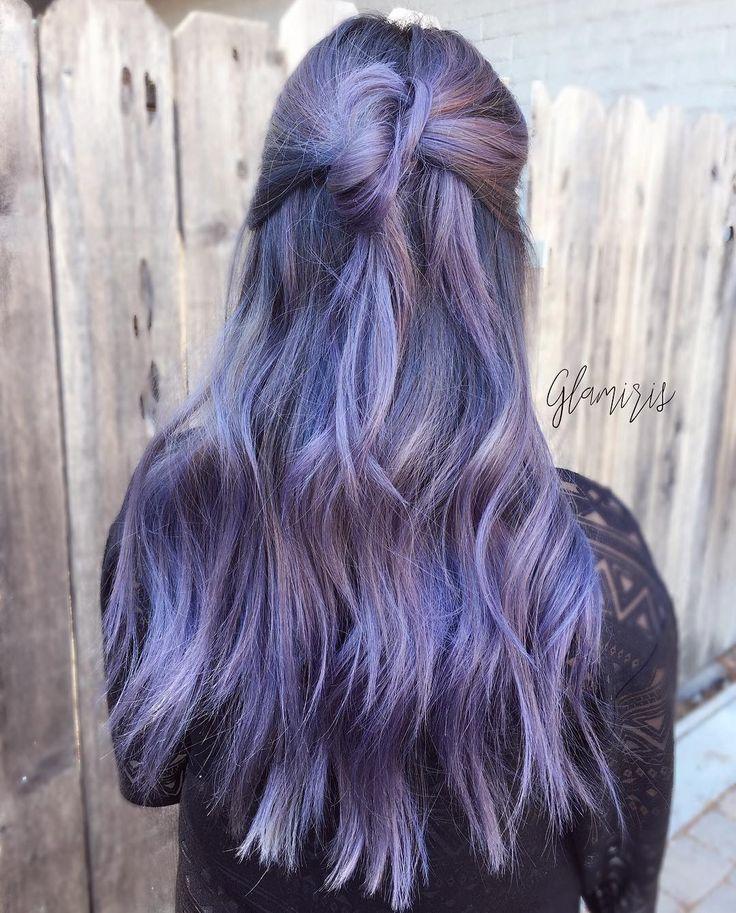 die besten 25 dunkel lilane haarfarbe ideen auf pinterest lila haare tiefvioletten haar und. Black Bedroom Furniture Sets. Home Design Ideas